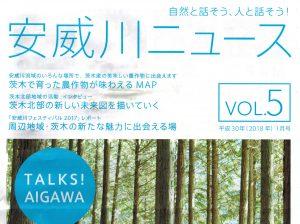安威川ニュース「茨木で育った農作物が味わえるMAP」表紙