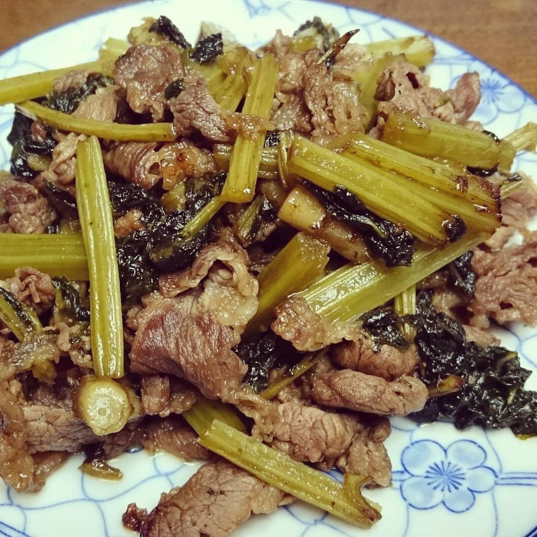 茨木えきまえマルシェ蕗と牛肉炒め