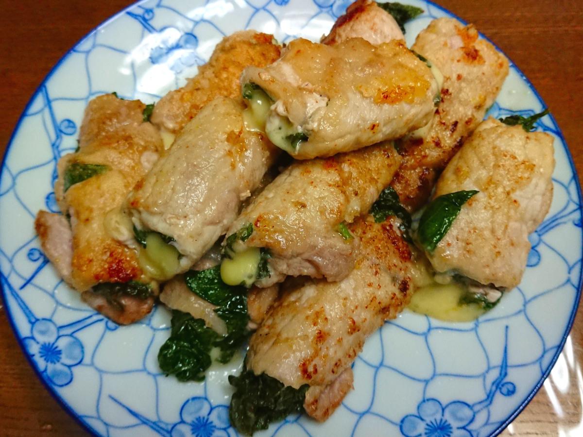 茨木えきまえマルシェレシピ豚肉大葉チーズ巻きソテー