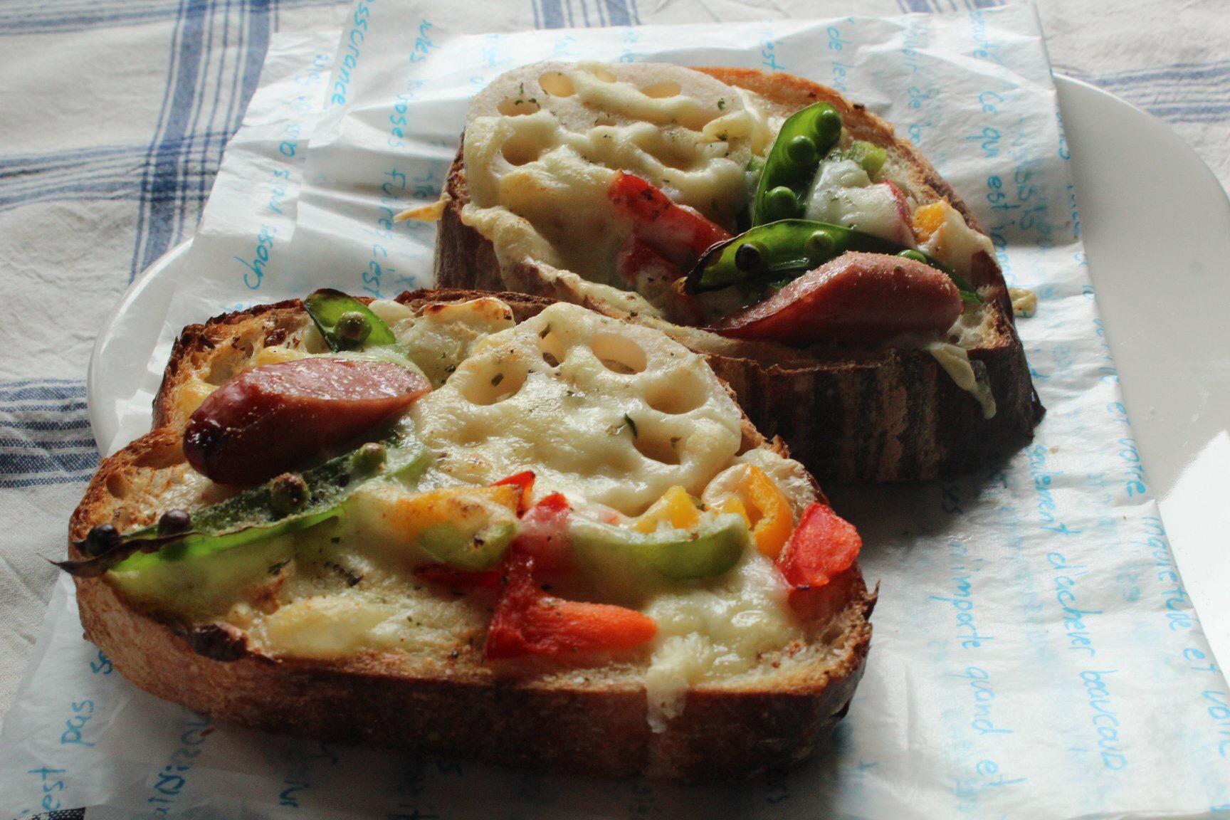 茨木えきまえマルシェパンとおやつフランスパンのフォカッチャ