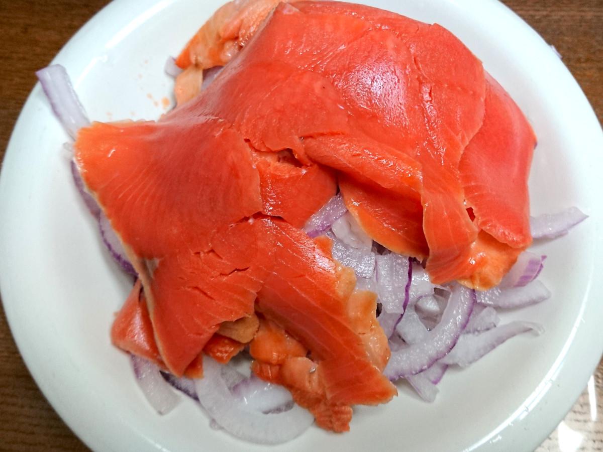 茨木えきまえマルシェレシピ赤玉ねぎのオニオンスライス
