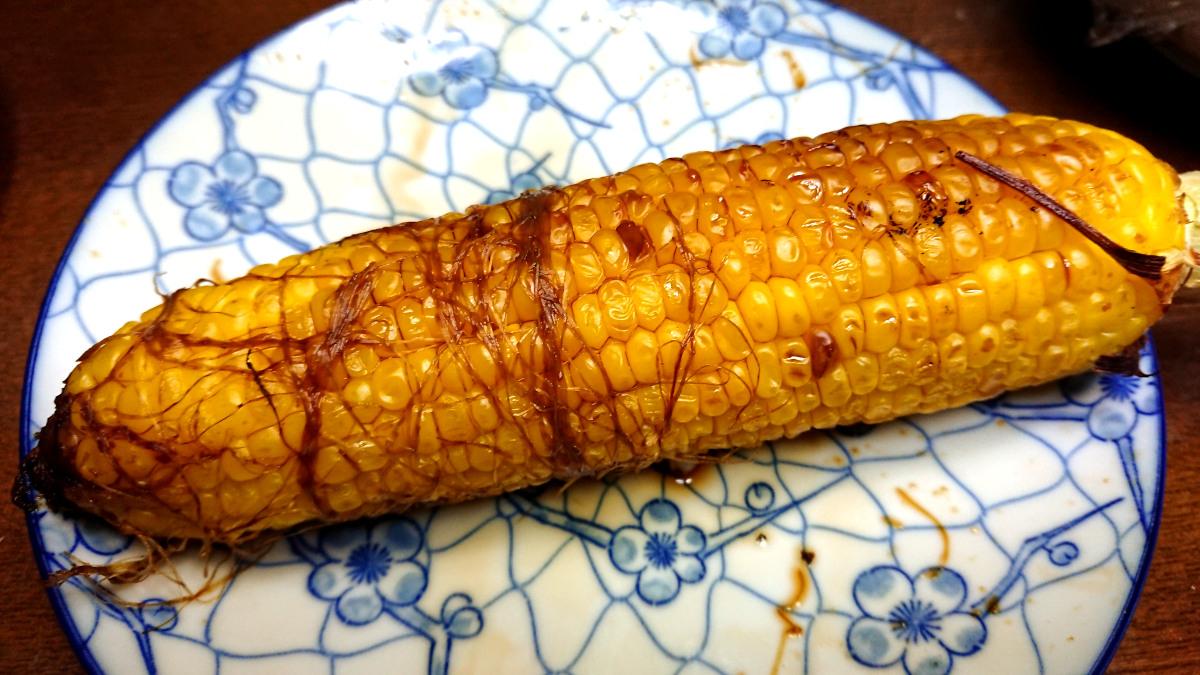 茨木えきまえマルシェレシピ焼きとうもろこし